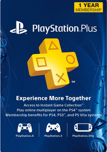 1-Year PlayStation Plus Membership (PS+) - PS3/PS4/PS Vita Digital Code (USA) billig Schlüssel zum Download