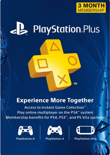 3 Month Playstation Plus Membership (PS+) - PS3/ PS4/ PS Vita Digital Code (USA) clé pas cher à télécharger