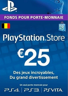 PlayStation Network (PSN) Card - 25 EUR (Belgium) cheap key to download