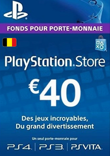 PlayStation Network (PSN) Card - 40 EUR (Belgium) cheap key to download