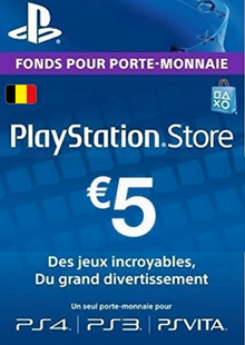PlayStation Network (PSN) Card - 5 EUR (Belgium) clave barata para descarga