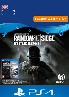 Tom Clancy's Rainbow Six Siege - Year 4 Pass PS4 (UK) cheap key to download