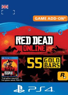 Red Dead Online: 55 Gold Bars PS4 (UK) billig Schlüssel zum Download