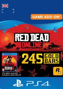Red Dead Online: 245 Gold Bars PS4 (UK) cheap key to download