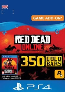 Red Dead Online: 350 Gold Bars PS4 (UK) cheap key to download
