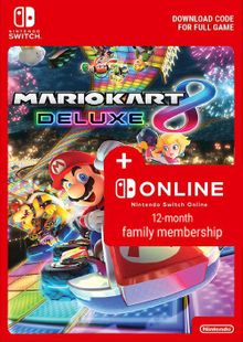 Mario Kart 8 Deluxe + 12 Month Family Membership Switch cheap key to download