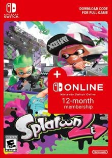 Splatoon 2 + 12 Month Membership Switch clé pas cher à télécharger