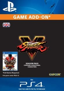 Street Fighter V 5 2016 - Season Pass PS4 cheap key to download