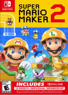 Super Mario Maker 2 + 12 Month Membership Switch cheap key to download