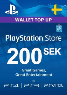 Playstation Network (PSN) Card 200 SEK (Sweden) cheap key to download