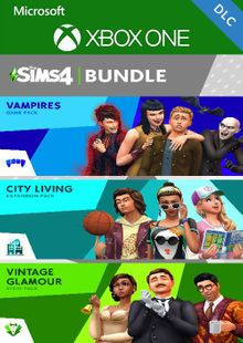 The Sims 4 Bundle - City Living, Vampires, Vintage Glamour Stuff Xbox One (UK) cheap key to download