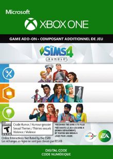 The Sims 4 Bundle - Get to Work, Dine Out, Cool Kitchen Stuff Xbox One (UK) cheap key to download