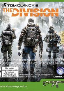 The Division Xbox Weapon Skin DLC clave barata para descarga