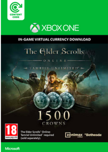 The Elder Scrolls Online Tamriel Unlimited 1500 Crowns Xbox One clé pas cher à télécharger