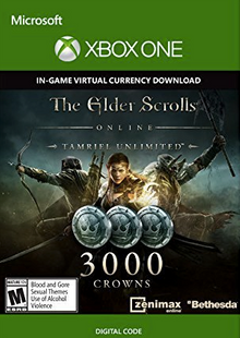 The Elder Scrolls Online Tamriel Unlimited 3000 Crowns Xbox One clé pas cher à télécharger