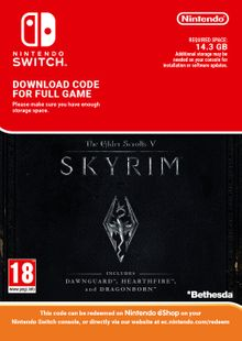 The Elder Scrolls V: Skyrim Nintendo Switch billig Schlüssel zum Download