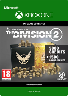 Tom Clancy's The Division 2 6500 Credits Xbox One billig Schlüssel zum Download