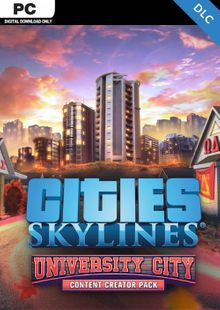 Cities Skylines PC - Content Creator Pack University City DLC cheap key to download