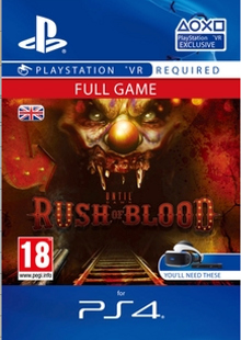Until Dawn Rush of Blood VR PS4 cheap key to download