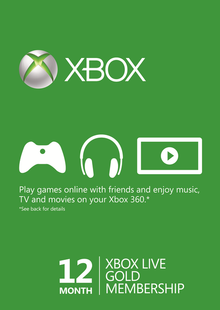 12 Month Xbox Live Gold Membership (Xbox One/360) - (EU) cheap key to download
