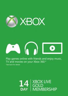 14 Day Xbox Live Gold Trial Membership (Xbox One/360) billig Schlüssel zum Download