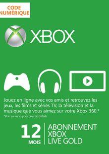 12 Month Xbox Live Gold Membership clé pas cher à télécharger