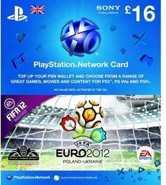 Playstation Network Card - £16 - Euro 2012 Branded (PS Vita/PS3)