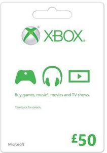 Microsoft Gift Card - GBP50 Xbox One/360