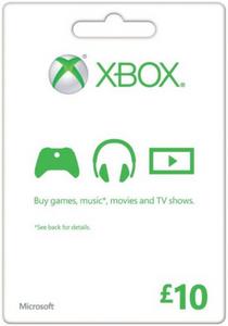 Carte cadeau Microsoft - 10 £ (Xbox One/360)