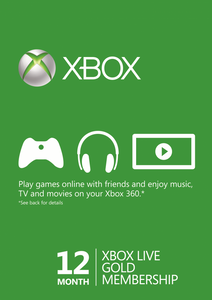 12 Month Xbox Live Gold Membership BRAZIL