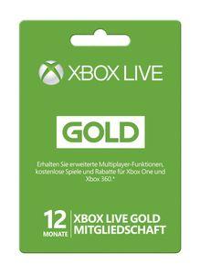 12 Monate Xbox Live Gold-Mitgliedschaft (Xbox One/360)