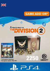 Tom Clancy's The Division 2 PS4 - 2250 Premium Credits Pack