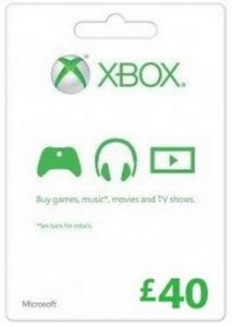 Microsoft Gift Card - £40 (Xbox One/360)