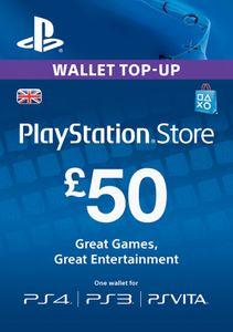 Playstation Network (PSN)-kaart - £50 (UK)