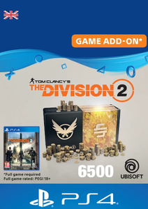 Tom Clancy's The Division 2 PS4 - 6500 Premium Credits Pack