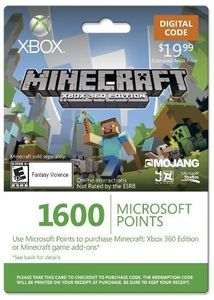 Xbox LIVE 1600 Microsoft Points for Minecraft: Xbox 360 Edition