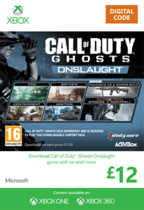 Xbox Live 12 GBP Gift Card: Call of Duty Ghosts Onslaught (Xbox 360)