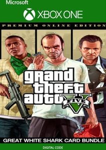 Grand Theft Auto V: Premium Online Edition & Great White Shark Card Bundle Xbox One (UK)