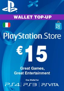 Playstation Network (PSN) Card - 15 EUR (Italy)