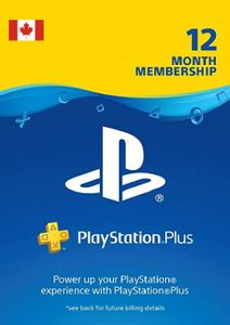1-Year PlayStation Plus Membership (PS+) - PS3/PS4/PS5 (Canada)