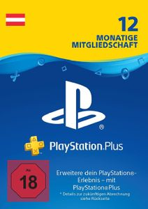 PlayStation Plus (PS+) - 12 Month Subscription (Austria)