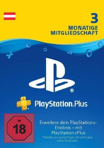 PlayStation Plus (PS+) - Abonnement de 3 mois (Autriche)