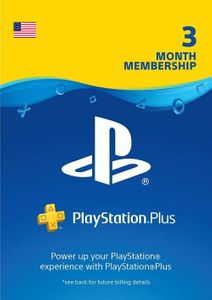 3 Month Playstation Plus Membership (PS+) - PS3/ PS4/ PS5 Digital Code (USA)