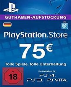 PlayStation Network (PSN) Card - 75 EUR (Germany)