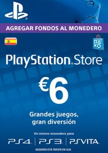 PlayStation Network (PSN) Card - 6 EUR (Spain)