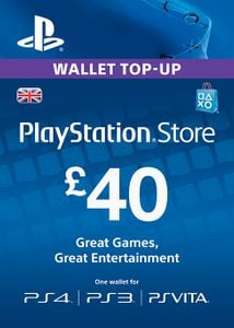 Playstation Network Card - £40 (PS Vita/PS3/PS4)