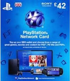 Playstation Network Card - £42 (PS Vita/PS3/PS4)
