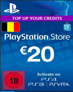 PlayStation Network (PSN) Card - 20 EUR (Belgium)