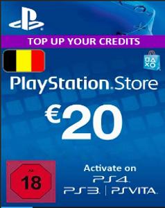PlayStation Network (PSN) Card - 20 EUR (Belgium)