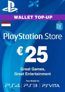 PlayStation Network (PSN)-kaart - 25 EUR (Nederland)